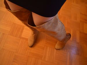 """Mode immer noch nichts für Mollige oder """"WOW, ich trage Overknees"""" (Copyright: Duo, Foto: Astrid Listner)"""